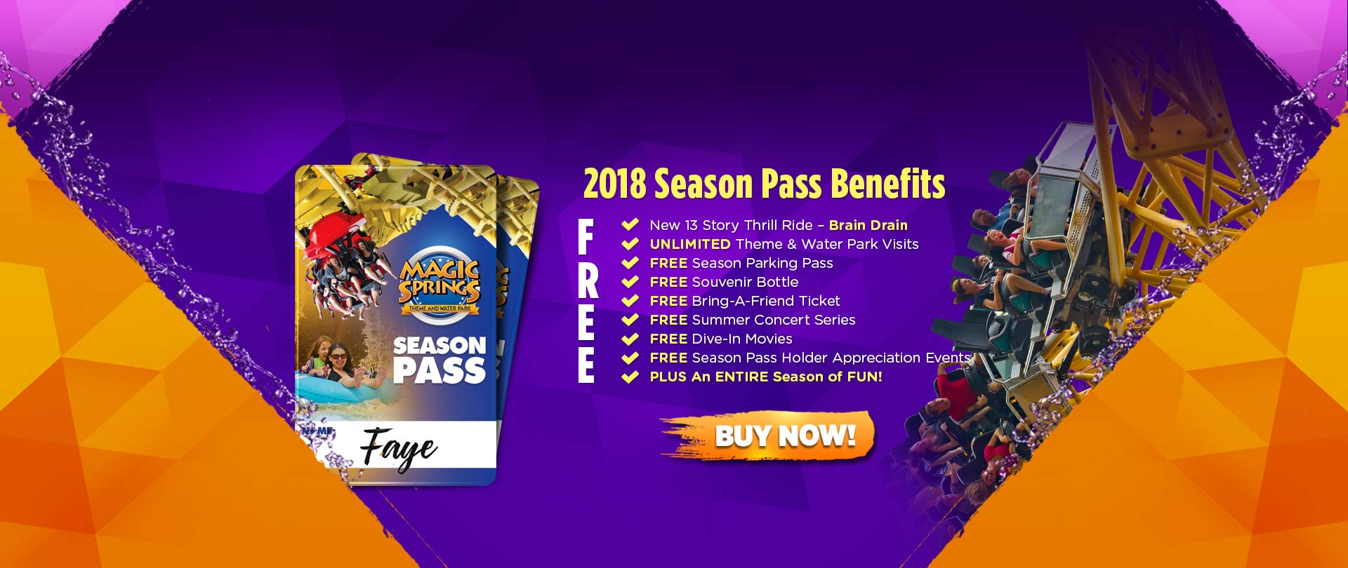 For Magic Springs And Crystal Falls we currently have 0 coupons and 0 deals. Our users can save with our coupons on average about $Todays best offer regey.cf you can't find a coupon or a deal for you product then sign up for alerts and you will get updates on every new coupon added for Magic Springs And Crystal Falls.